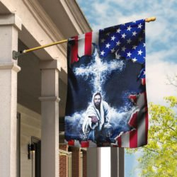 american flag jesus
