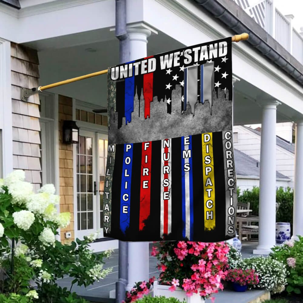 United We Stand September 11th First Responder Flag