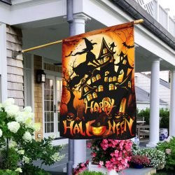 halloween witch flags