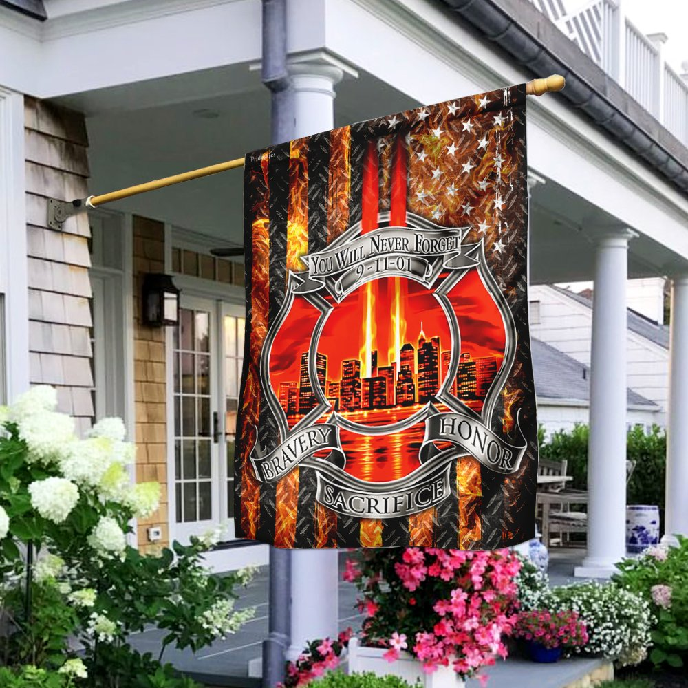 Firefighter Never Forget 9112001 Patriot Day Flag