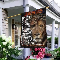 """"""" Our favorite piece is the Jesus Lion of Judah flag. This product is available only from flagwix.com, will appeal to any Jesus lion lover."""""""