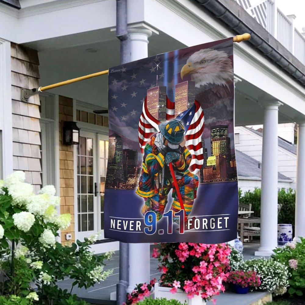 Never Forget September 11th American Flag