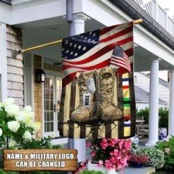 Personalized Desert Storm Veteran American Flag