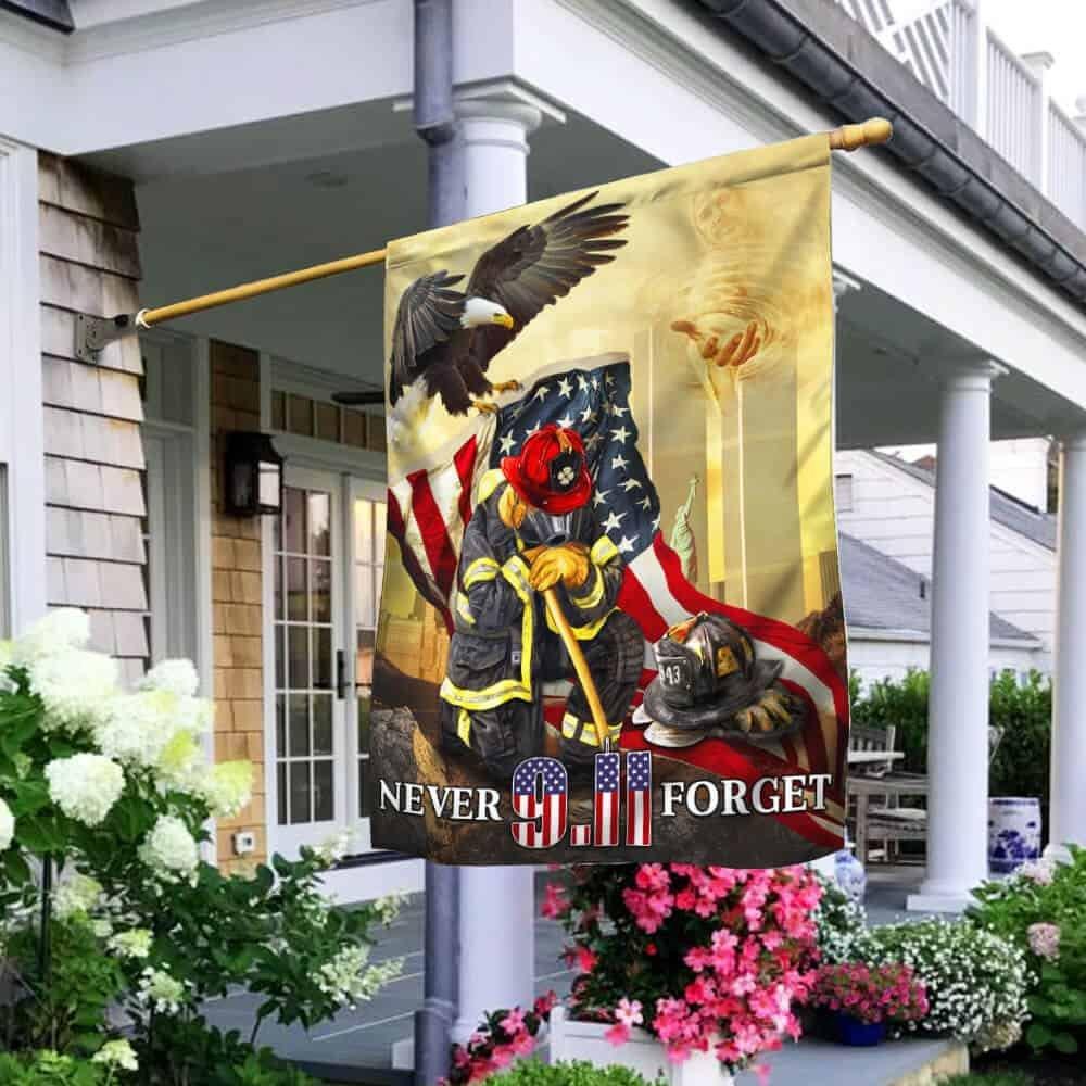 343 Firefighter Never Forget 911 Flag
