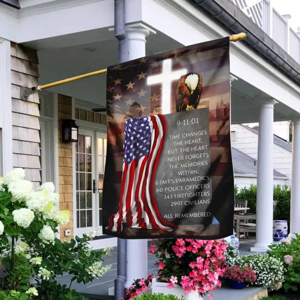 The Heart Never Forgets The Memories Within Patriot Day 911 Flag